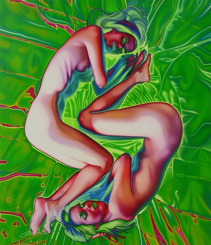 AAA.-In-a-Perfect-World_green_64x72_oil_on_canvas_2004_pa