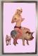 "Pig Lover - 64x44"" ultra slim light box with transparency c print"